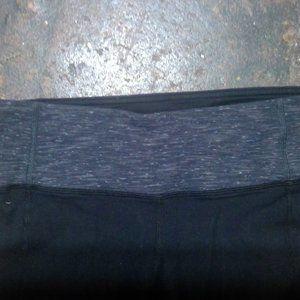 Athleta Pants & Jumpsuits - Athleta Womens Black Leggings Gray Gusset Contrast